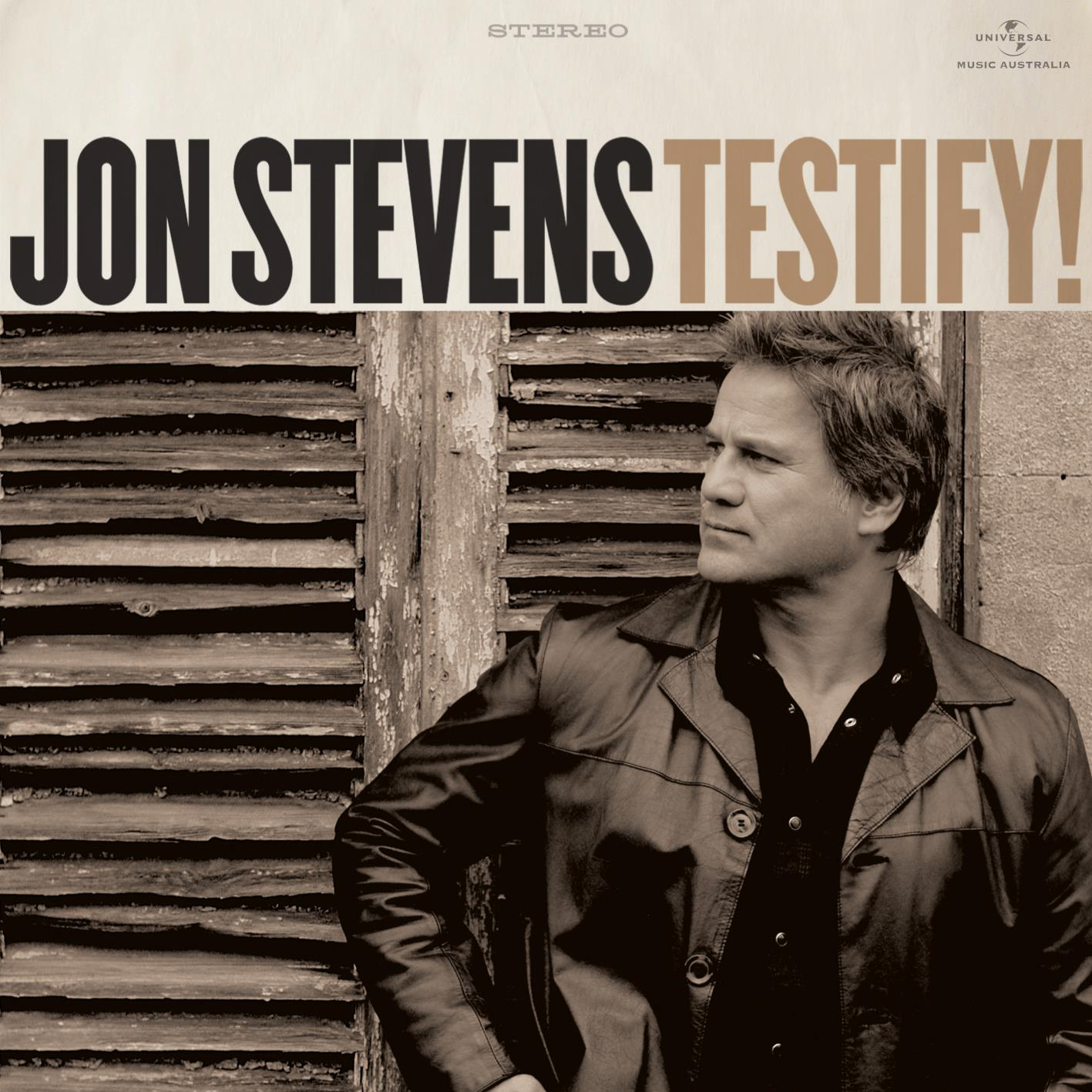 Jon Stevens to release 'Testify!' on 11/11/11