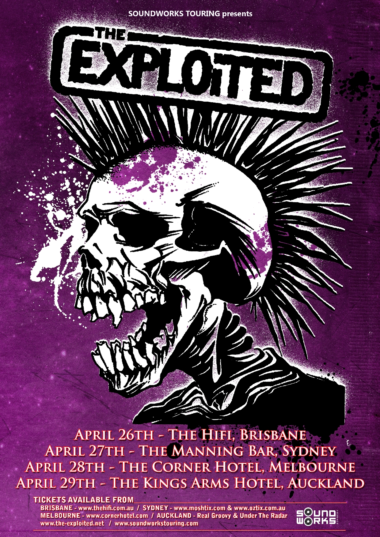 The Exploited announced Australian tour