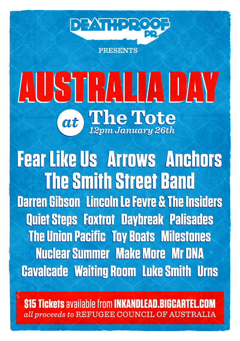 Deathproof PR presents Australia Day at The Tote