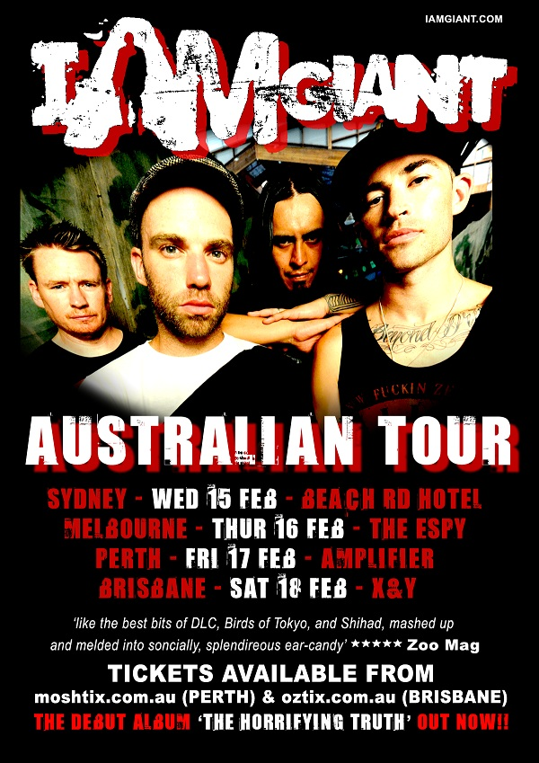 I Am Giant – The Horrifying Truth – Australian Tour 2012
