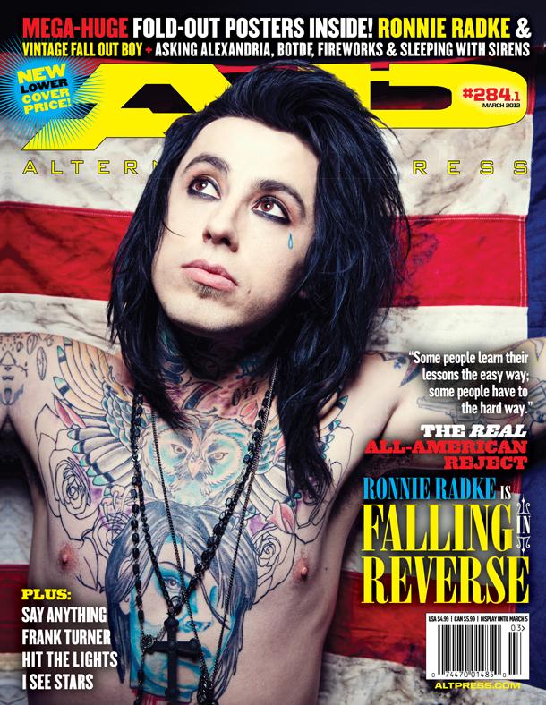 Ronnie Radke graces Alternative Press cover, not once, not twice, but thrice…