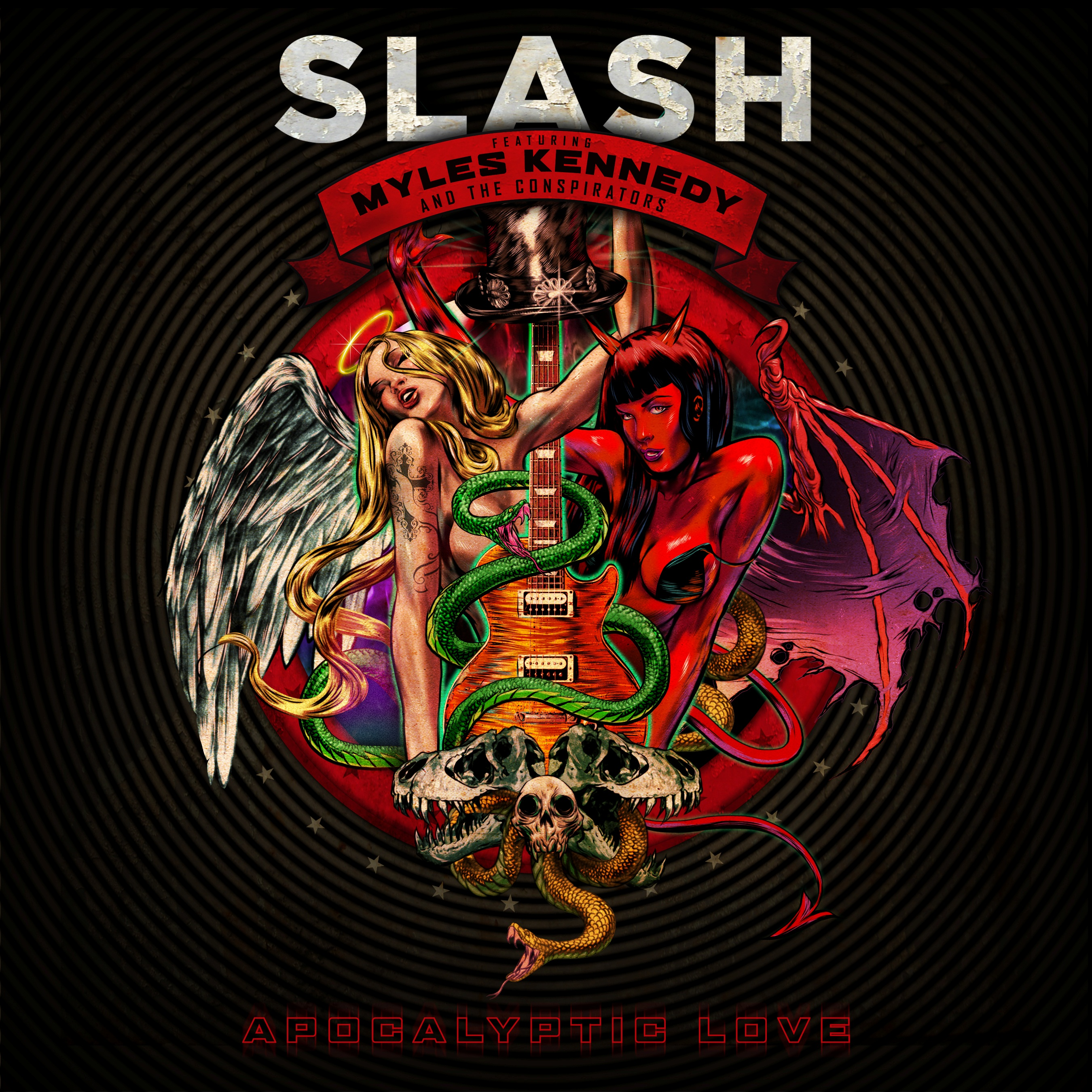 Slash reveals cover art and title for second studio album 'Apocalyptic Love'