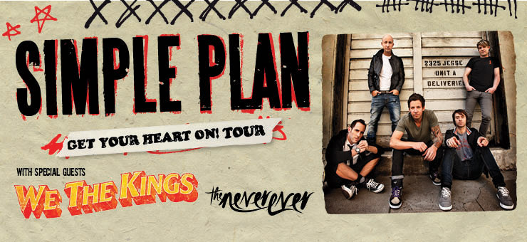 Simple Plan announce 'Get Your Heart On! Australian tour