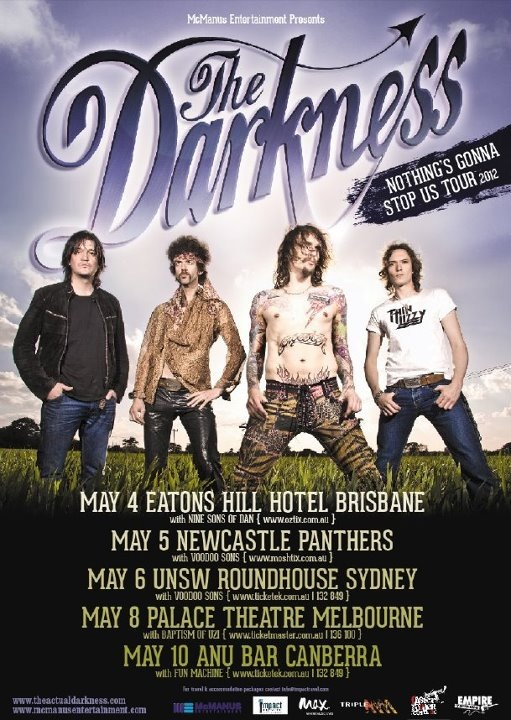 The Darkness Australian Tour