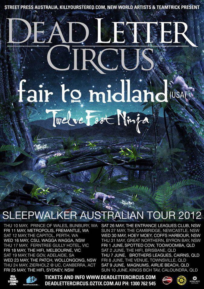 Dead Letter Circus – 'Sleepwalker' Australian tour