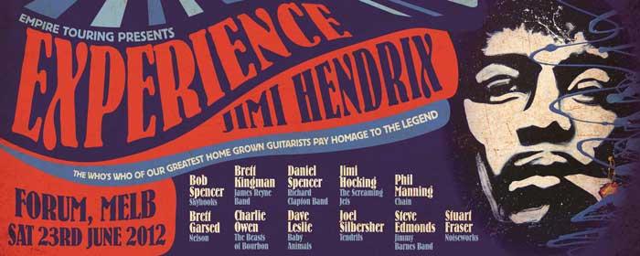 Experience Jimi Hendrix – Melbourne, 23rd June 2012