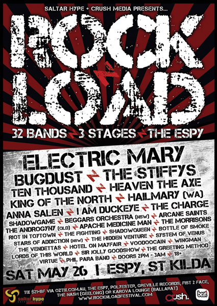 Rock N Load Festival – Melbourne May 26