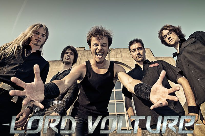 Dutch Power Metallers LORD VOLTURE sign with ROCK N GROWL