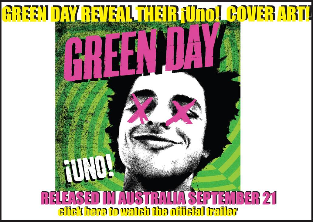 Green Day reveal cover art for new album !Uno!