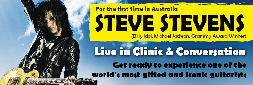 Steve Stevens live in clinic and conversation – Australia!