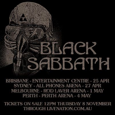 Black Sabbath Australian Tour announced