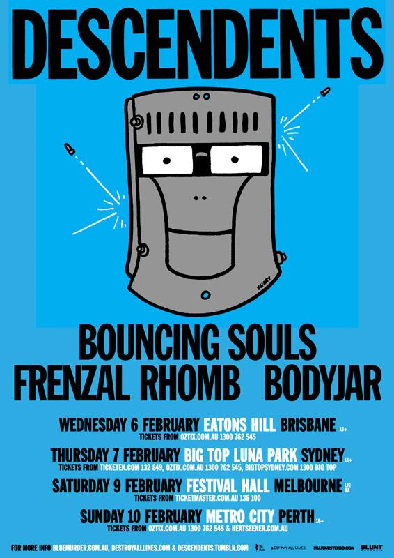 Descendents 2013 Australian Tour w/ Bouncing Souls, Frenzal Rhomb & Bodyjar