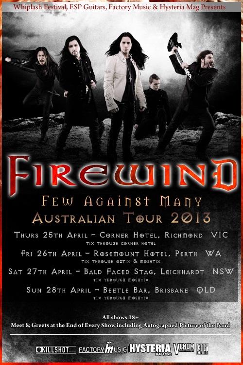 Firewind announce Australian tour dates