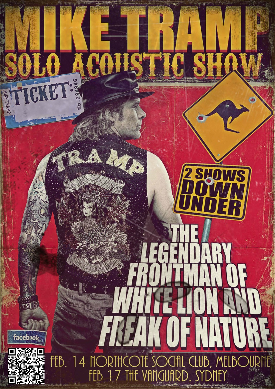 Mike Tramp solo acoustic Australian shows Feb 2013