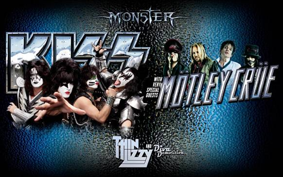 Kiss, Motley Crue and Thin Lizzy Australian tour details!