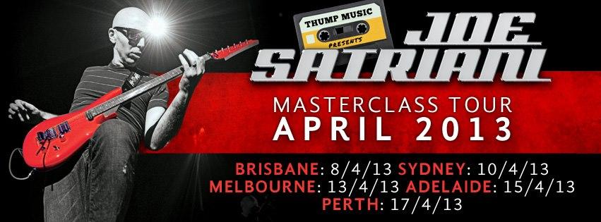 Joe Satriani Australian master class tour, April 2013