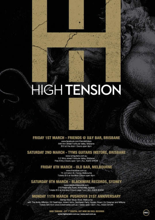 High Tension announce debut tour