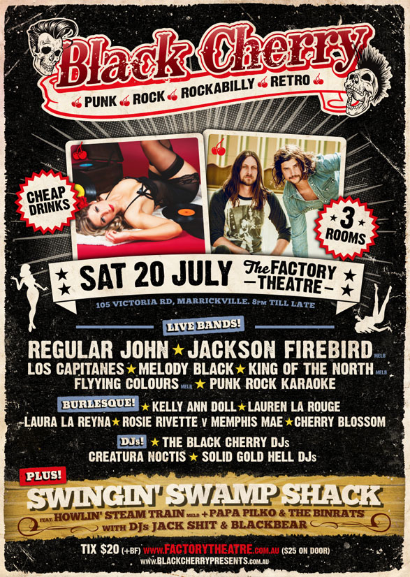 Black Cherry Heats Up The Factory Theatre in Sydney on July 20th