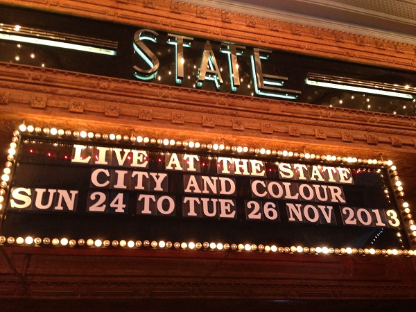 City and Colour – The State Theatre, Sydney – November 24, 2013