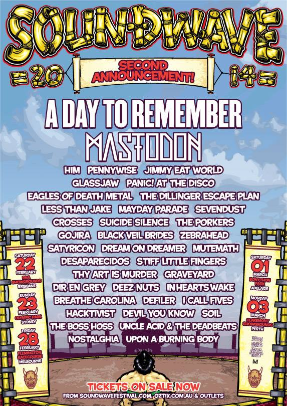 SOUNDWAVE FESTIVAL 2014 SECOND ARTIST ANNOUNCEMENT