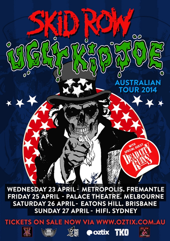 WIN tickets to see Skid Row and Ugly Kid Joe in Australia! (CLOSED)