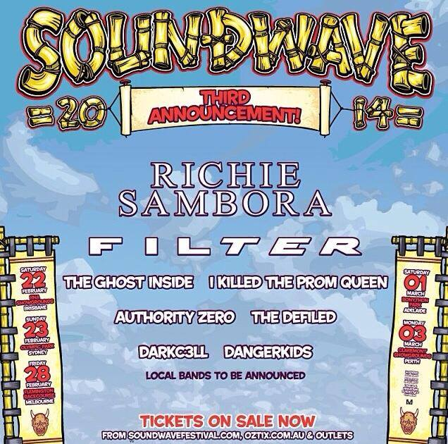SOUNDWAVE FESTIVAL 2014 Third artist announcement!