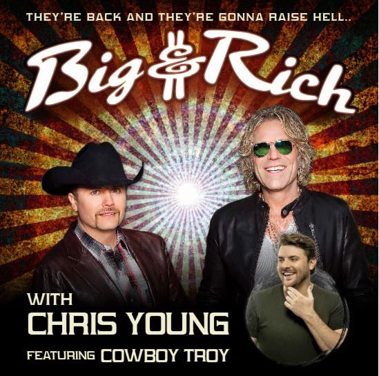 BIG & RICH return to Australia for headline shows in March with Chris Young