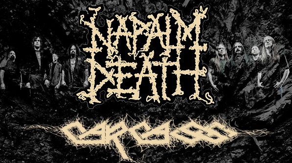 NAPALM DEATH and CARCASS with guests Extortion Australian Deathcrusher Tour April 2015
