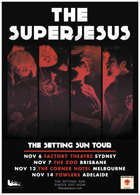 THE SUPERJESUS announce THE SETTING SUN tour!