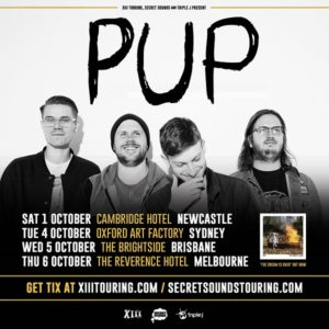 PUP Australian Tour Announcement
