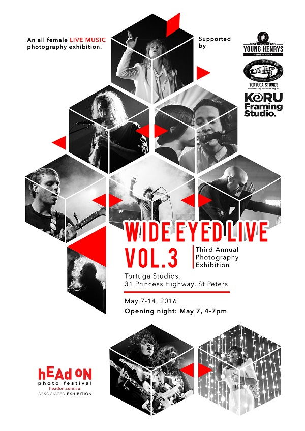 Wide Eyed Live – all-female live music photography exhibition