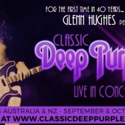 GLENN HUGHES Performs Classic Deep Purple Live! Australian Tour Sept 2017