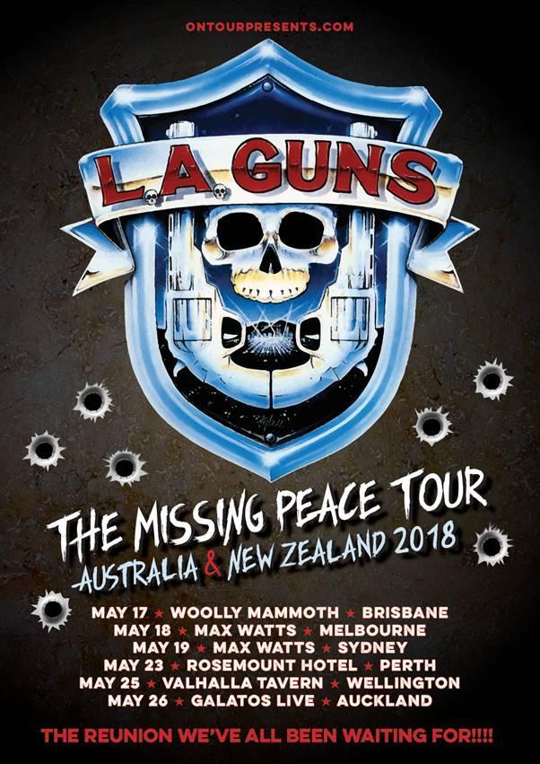 l a guns announce the missing peace australian nz 2018 tour. Black Bedroom Furniture Sets. Home Design Ideas