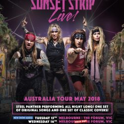 Second Melbourne show added for STEEL PANTHER tour