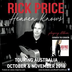 RICK PRICE 'Heaven Knows' album cover to cover tour