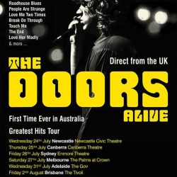 THE DOORS ALIVE Announce 2019 Australian Tour