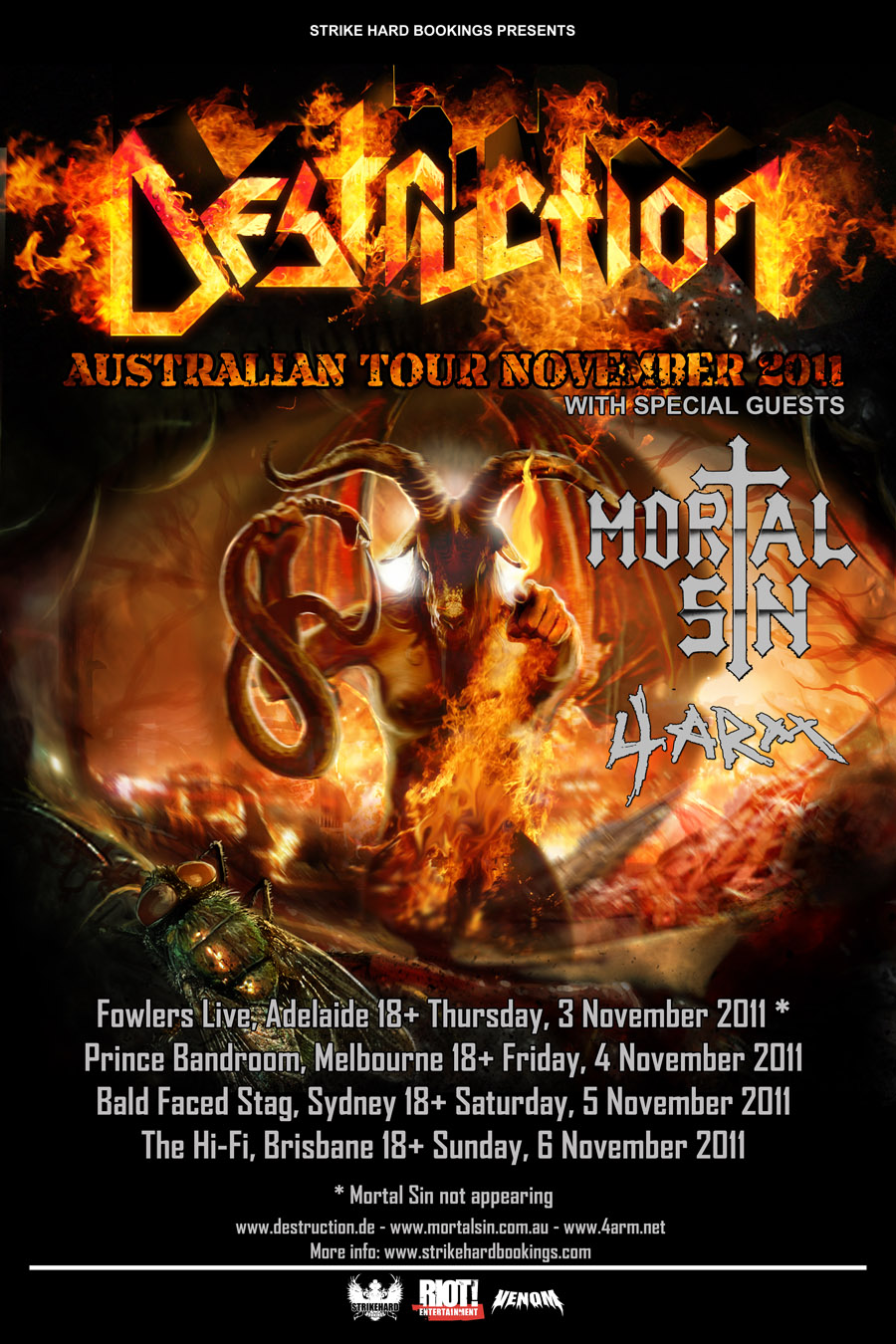 Destruction – Australian Tour 2011