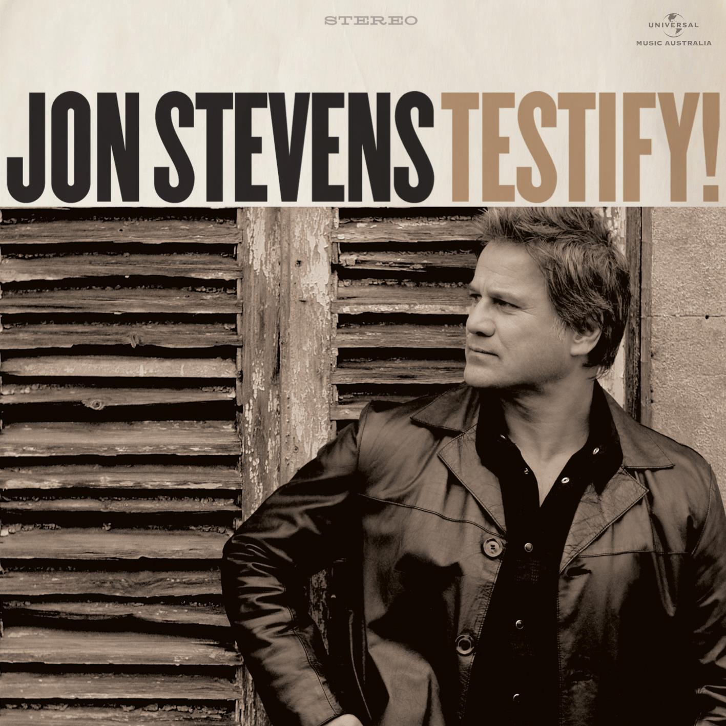 Jon Stevens to release 'Testify!' on 11/11/11