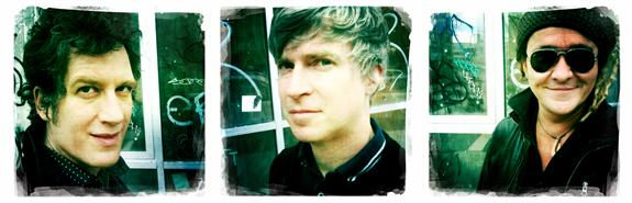 Nada Surf sign with independent label Stop Start