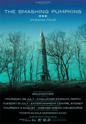 The Smashing Pumpkins announce Australian tour dates