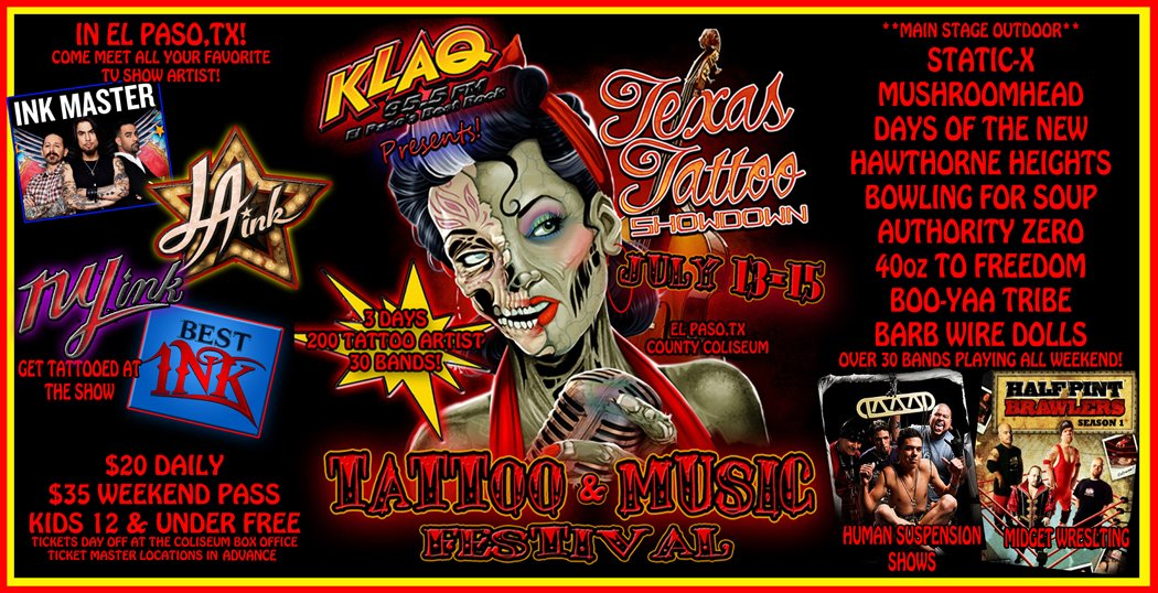 The Texas Showdown Festival – USA's largest Tattoo and Music festival!