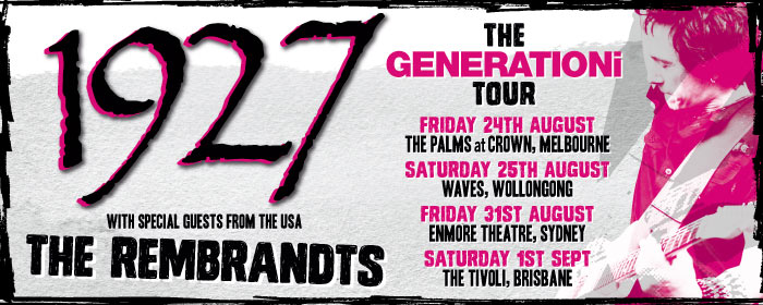 1927 and The Rembrandts announce East Coast shows