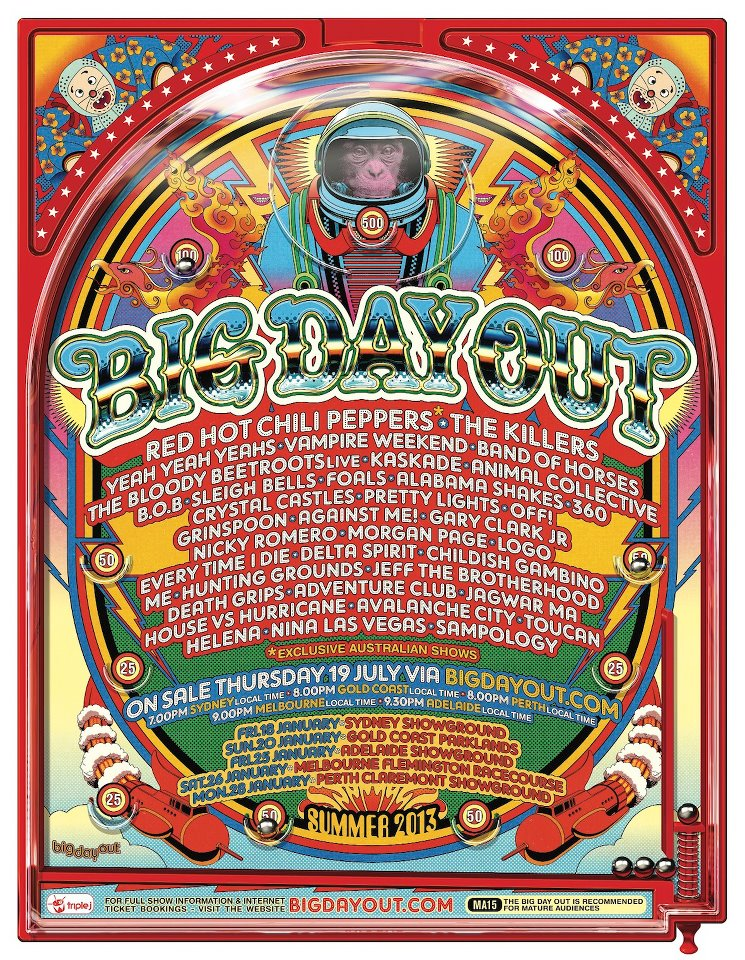 Big Day Out 2013 Lineup announced!