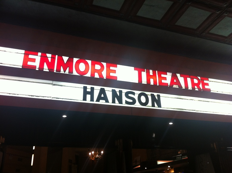 Hanson – The Enmore Theatre, Sydney, Australia – September 16 2012