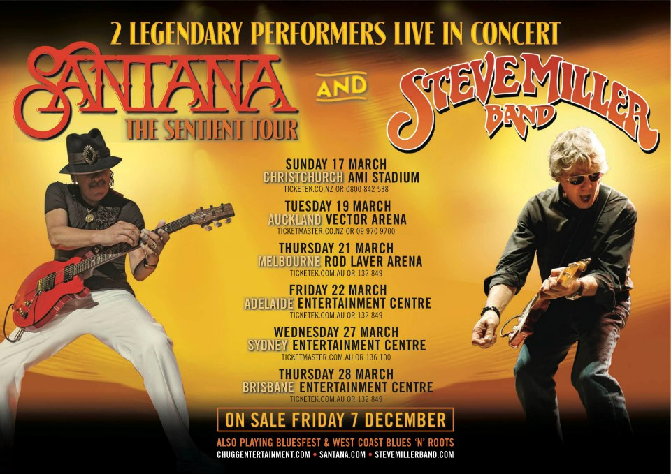 Santana and Steve Miller Band, live in Australia
