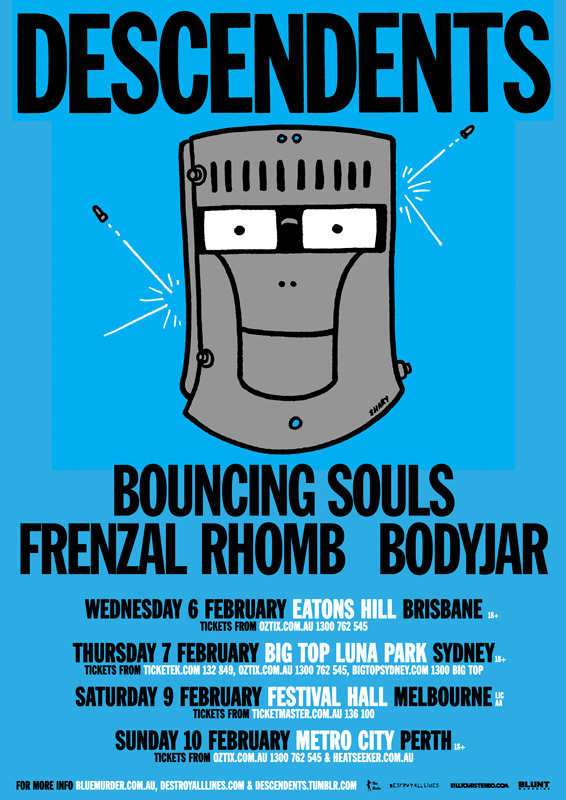 Descendents 2013 Australian Tour w/ Bouncing Souls, Frenzal Rhomb & Bodyjar