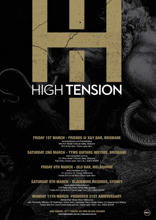 High Tension announce debut tour