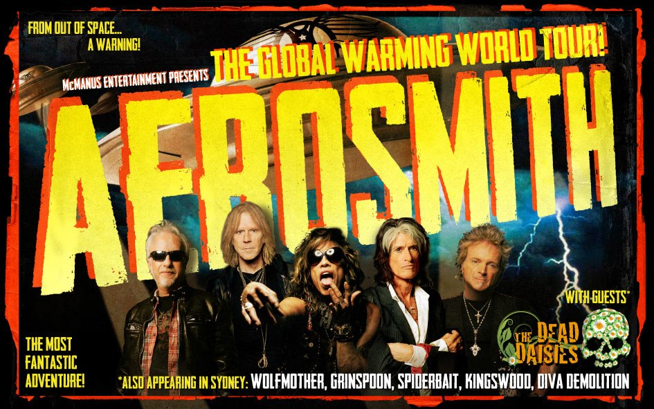 Aerosmith heading back to Australia on the 'Global Warming World Tour' 2013