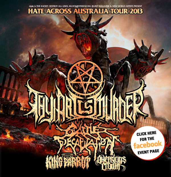 Thy Art Is Murder & Cattle Decapitation (US) Australian tour announced!
