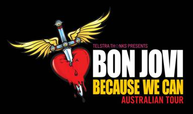 "BON JOVI ""Because We Can – The Tour"" Australian dates announced"